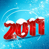 Beautiful New Year's Card. Vector beautiful New Year's Card Royalty Free Stock Photo