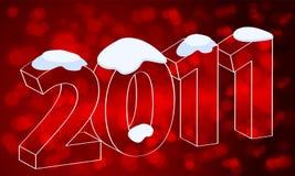 Beautiful New Year's Card. Vector beautiful bokeh New Year's illustration Royalty Free Stock Photos