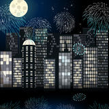 Beautiful New Year's cityscape Stock Image