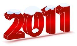 Beautiful New Year's Illustration Stock Image