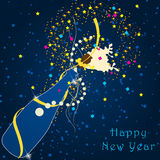 Beautiful New Year's Illustration Stock Photos