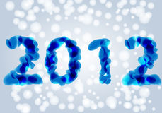 Beautiful New Year's illustration Royalty Free Stock Image