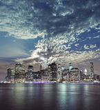 Beautiful New York City Manhattan view Royalty Free Stock Photo
