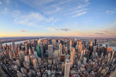 Beautiful New York City skyline with urban skyscrapers. Royalty Free Stock Photography