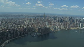 Beautiful new york city view stock video