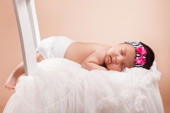 Beautiful newborn baby girl stock photography