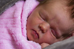 Beautiful newborn baby girl sleeping Stock Photography
