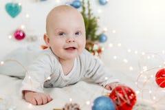 Beautiful newborn baby Stock Images