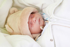Beautiful newborn baby sleeping Royalty Free Stock Images