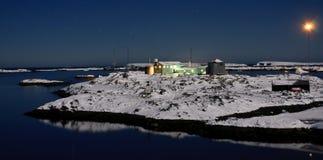 Beautiful night in Antarctica Stock Image