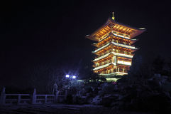 Beautiful night China Tower Royalty Free Stock Photography