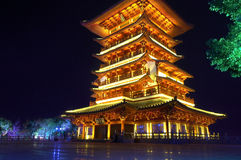 Beautiful night China Tower Stock Photography
