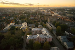 Beautiful night cityscape in Tver Stock Images