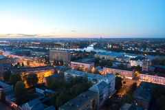 Beautiful night cityscape in Tver Stock Photos
