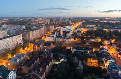 Beautiful night cityscape in Tver Stock Image