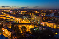 Beautiful night cityscape in Tver Royalty Free Stock Images