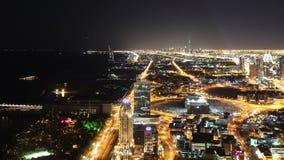 Beautiful night dubai 4k time lapse. Beautiful time lapse from night dubai city stock video