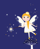 Beautiful night fairy girl vector Royalty Free Stock Photos