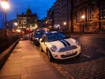 Beautiful night landscape image of Edinburgh Royalty Free Stock Images