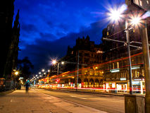 Beautiful night landscape image of Edinburgh Stock Photography
