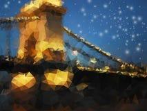Beautiful night landscape, triangle design Royalty Free Stock Photos