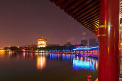 The beautiful night landscape xian Stock Image