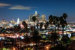 Los Angeles downtown royalty free stock photos