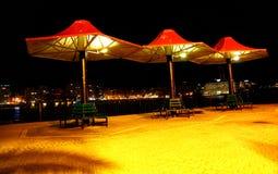 Beautiful night on the mediterranean coast in Malta. Royalty Free Stock Photos