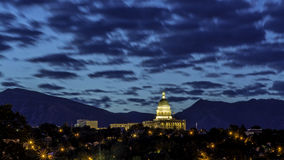 Beautiful night picture of the Capital in Salt Lake City Stock Images