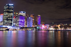 Beautiful night scape in the city of Sydney Australia Stock Photo