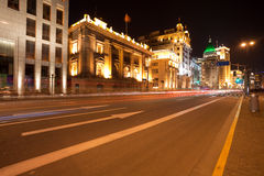 Beautiful night scene at the Bund in Shanghai Royalty Free Stock Image