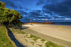 Beautiful Night Scene at Cottesloe Beach, Perth, Western Australia Royalty Free Stock Photos