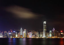 Beautiful Night Scene of Hong Kong Stock Images