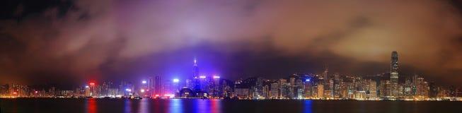 Beautiful Night Scene of Hong Kong Stock Photos