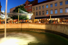 Beautiful night scene from Malmo old town, Sweden Stock Images