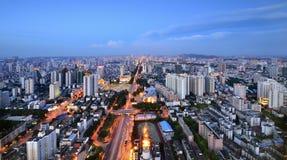 The beautiful night scene of Nanning. Guangxi,China Stock Photos