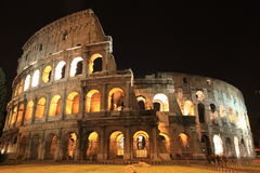 ancient ruins of Colosseum in Rome Royalty Free Stock Images