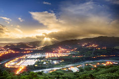Beautiful night scene of Taiwan Stock Photos