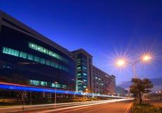 Beautiful Night Scene of  Technology Factory Stock Photos
