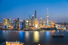 Beautiful night in shanghai Royalty Free Stock Photography