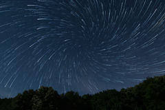 Beautiful night sky Beautiful stars vortex Stares game, Stars play Deep forest night sky Royalty Free Stock Photo