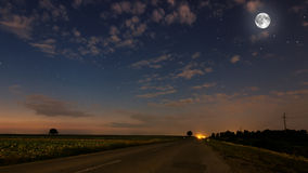 Beautiful night sky, full moon, Royalty Free Stock Photography