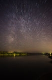 Beautiful night sky, the Milky Way and the trees Stock Images