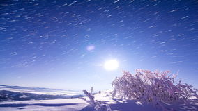 Beautiful night sky reflection on Lake stock video