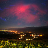 Beautiful night space landscape Stock Photos