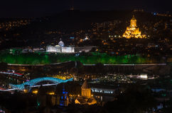 Beautiful night in Tbilisi Royalty Free Stock Images