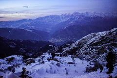 Beautiful night veiw of lowedir pakistan Stock Image