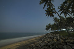 Beautiful night view of the coastline. At Varkala stock photos
