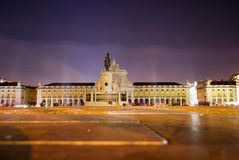 Praça do Comércio, Lisboa at night royalty free stock photos
