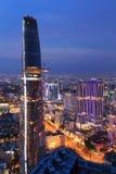 Beautiful night view of Ho Chi Minh cityscape SaiGon, VietNam Royalty Free Stock Image